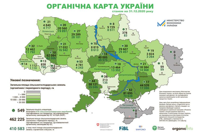 В Україні – 1% органічних сільськогосподарських плантацій